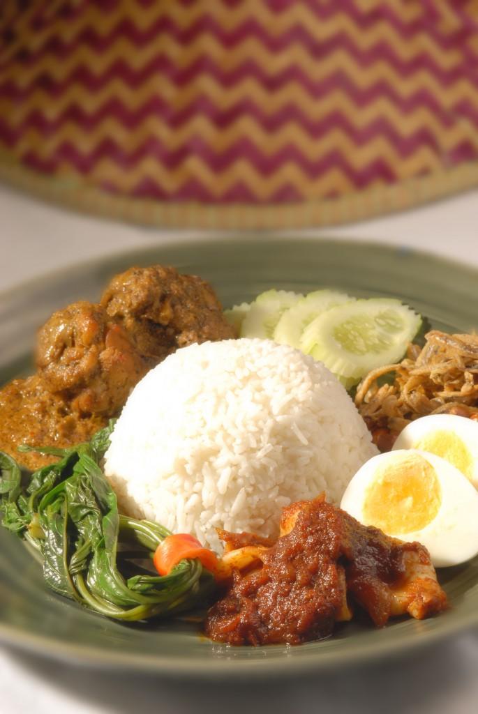 Rice Cooked In Coconut Cream (Nasi Lemak)